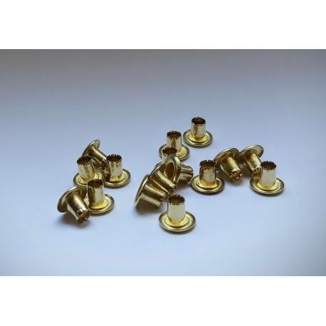 Oczka (nity) Reflex-bis - złote mosiądzowane
