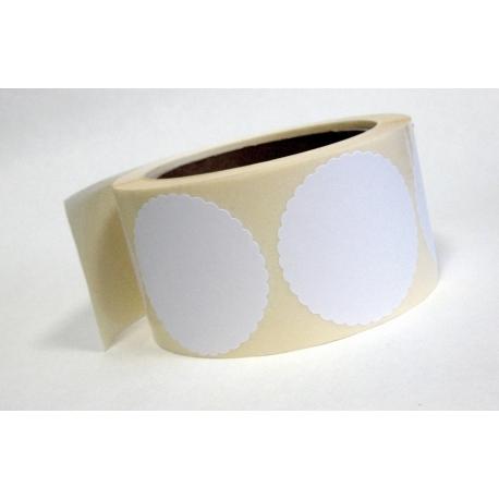 Rozetki samoprzylepne białe, śr. 53 mm